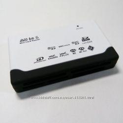 картридер 10 в 1 microSD, SDHC, Olympus xD-Picture, Sony M2, MS Duo