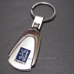 Брелок Пежо Peugeot на ключи, металл, на подарок