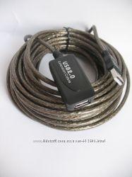 Кабель удлинитель USB 2. 0 активный для комп. техники 10м, 5м.