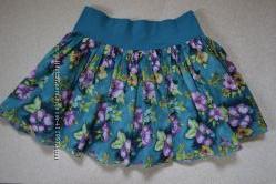 Летняя хлопковая юбочка  H&M,  размер 8