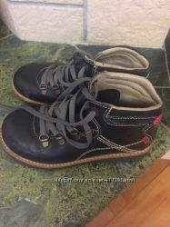 Ботинки KicKers кожаные демисезонные Италия