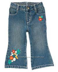 Красивые джинсики с вышивкой на 3 года