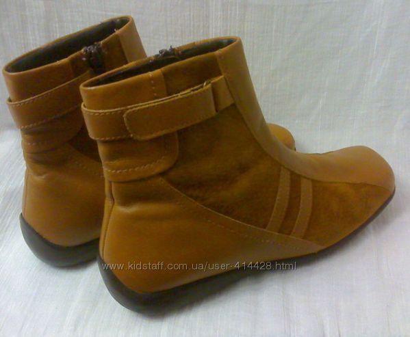 Стильные удобные  кожаные ботинки. 40 размер