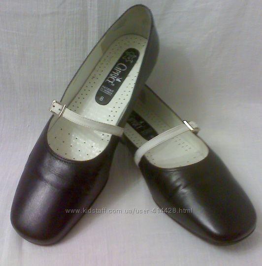 Элегантные кожаные туфли . 42-43 размер