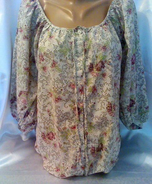 Тоненькая хлопковая летняя блузочка KappAhi 46-50 размер.