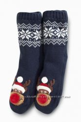 Теплые носки-тапочки Next. Размер 12, 5-3, 5. Примерно на 19-21 см.