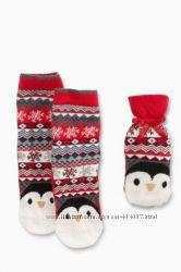Носки в подарочном мешочке Next. Размер 4-7.