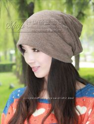 Демисезонная женская шапка снуд. Повязка. Шарф 3 в1