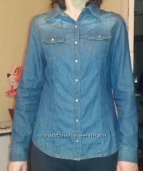 джинсовя рубашка катон 38р biaggini