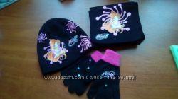 Для поклонниц WINX. Комплект шапка шарф