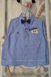 Базовая рубашка E&H с бабочкой в комплекте от 9 мес до 2 лет