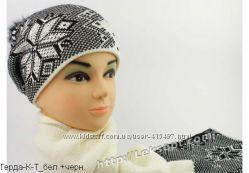 Новые комплекты шапка и шарф, белый, черный