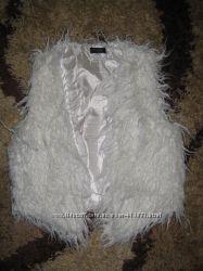 белая жилетка по ламу, бу