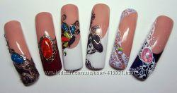 жидкие камни для дизайна ногтей