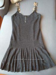 Платье с блеском и пресировкой