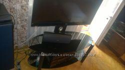 Стойка-столик стеклянная с крепежомрегулируется