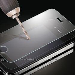Защитное стекло Apple iPhone 4 4S и 5 5S 5C одна и  две стороны