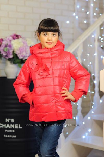 Стильные демисезонные курточки для девочек в наличии от 122 до 150