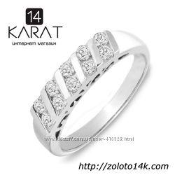 Золотое кольцо с бриллиантами 0, 50 карат 17 мм. Новое