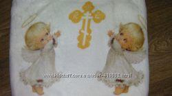Детский махровый Плед Полотенце  крыжма Ангелочки
