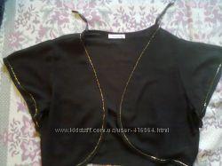 Чёрное шифоновое болеро с золотым бисером в идеале
