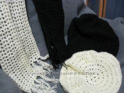Комплекты женские, беретик с шарфом, весна