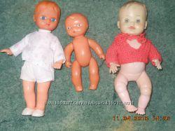 Старые пупсы, куклы ГДР с рельефными волосами