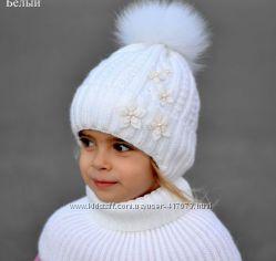 зимние шапки в наличии на флисе с натуральным мехом