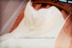 Свадебное платье, цвет айвори , размер 44-46