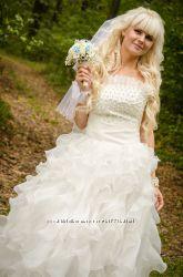 Красивое и необычное свадебное платье