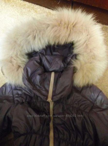 Зимнее пальто для девочки ТМ Baby ANGEL, размер 140