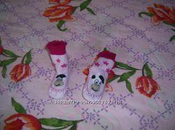 пинетки - носочки с чешками.