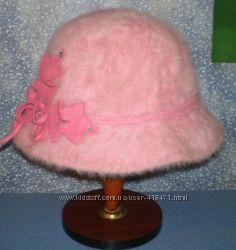 шляпка - ангорка на объем 57 - 59 см Обмен