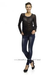 MEXX  - прозрачная блуза с пайетками