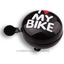 Звонок I love my bike, диаметр 80mm