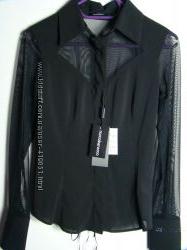 Черная блузка  со шнуровкой ROCCOBAROCCO оригинал