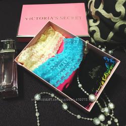 Подарочный набор. Женские трусики стринги c кружевом от Victoria&acutes Secret