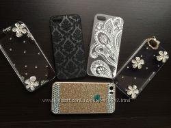 Распродажа. Суперские чехлы для Iphone 5, 5S в камнях в наличии