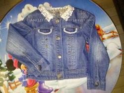 Джинсовая курточка ZARA 98-116 см