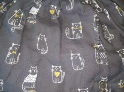Прикольная юбка CHICCO смешнючие коты