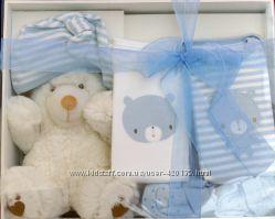 Подарочный комплект c игрушкой для новорожденного мальчуковый