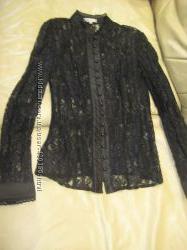 Красивая гипюровая блузка р. 36 S
