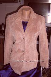 Куртка-пиджак из натуральной замши