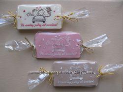 Шоколадки от молодоженов гостям свадьбы 50х90 мм.