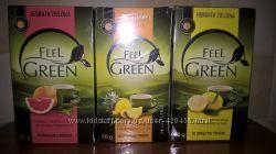 Зелений чай Feel Green, 40 пакетів, Польща