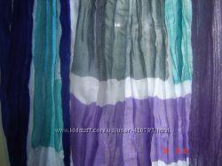 Шарф нарядный, стильный в голубых оттенках