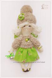 Тильда Кнопа. Текстильная куколка в стиле Т. Коннэ.