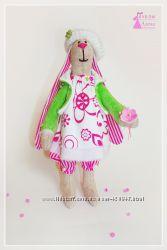 Тильда. Кролик Сима. Текстильная игрушка - сувенир. Ручная работа.