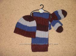 Набор NEXT шапка шарф и варежки 1-2 года новые