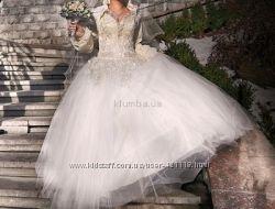 Шикарное свадебное платье по минимальной цене
